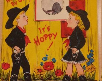 Vintage Hopalong Cassidy Birthday Card Picture Card Gum Buzza Cardozo