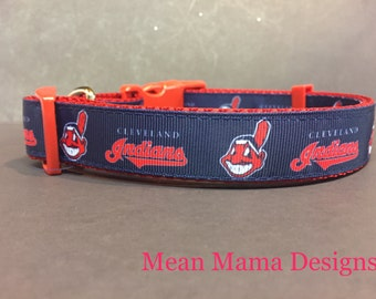 Cleveland Inspired Dog Collar .. Indians inspired Dog Collar