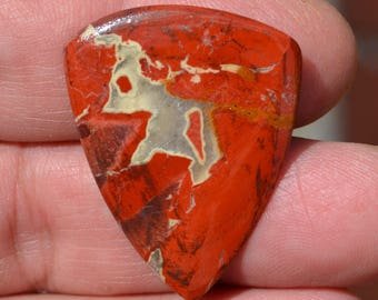 Guitar Pick Red Agate - Large hand made plectrum  AGR-17-05