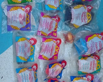 Vintage Mcdonalds Happy Meal Toys mint in Package,, Barbie,, Hercules,, Beauty, and much more