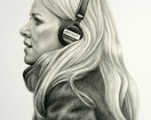 Custom Pencil Portrait, Portrait of a man, Portrait of an artist, Portrait of a woman, personal fan art, Commission Fan Art, Free Shipping
