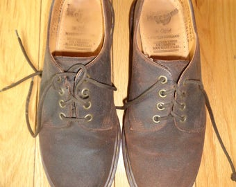 Vintage Doc Marten's Shoes Size 7 Male US or Size 9 Female US in Brown Suede Leather  in Very Good Condition, Made well and made to last