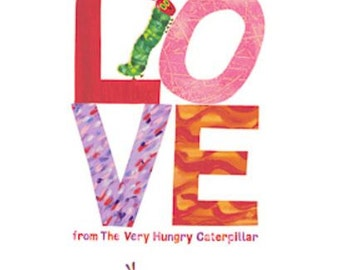 SALE - Andover - The Very Hungry Caterpillar - I Love You Panel