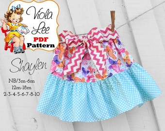 Shaylen Baby Sewing Pattern pdf, Ruffle Twirl Skirt Pattern. Girl's Skirt Pattern. pdf Sewing Pattern, Ruffled Skirt Pattern. Girls Skirt