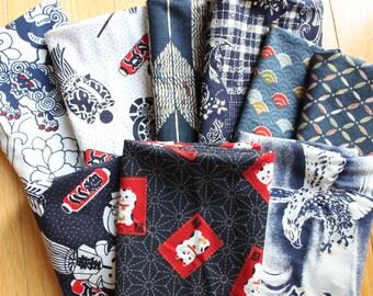 Japanese Fabrics 9 fat quarters destash pre-washed