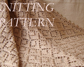 Knit Baby Blanket PATTERN, Lacy Knit Blanket PATTERN, Knitting PATTERN Baby Blanket