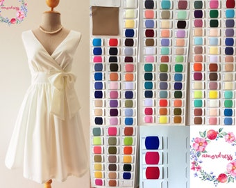 Bridesmaid Dress in Your Color Choice Party Dress Sundress Prom Cocktail Dress Summer Dress Red Yellow Green Blue Pink White Black Dress