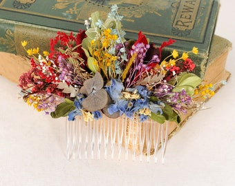 Dried Flower Headpiece, Natural Flower Hair Comb, Wedding Hair Piece, Australian Flower Head Piece, Spring Wedding, Country Wedding Comb