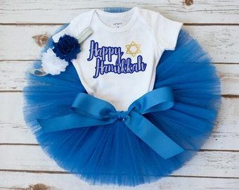Hanukkah outfit, first Hanukkah outfit, Hanukkah baby outfit, girls Haunkkah outfit, toddler Hanukkah outfit, holiday outfit, first Chanukah
