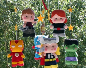 Baby Mobile - Super Hero Mobile - Adventure Mobile - Superheromobile, The Avengers Mobile, Baby Crib Mobile Nursery Super Heroes Mobile BB 3