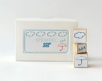 "Rubber Stamps ""Singin' in the Rain"" (Set of 3)"