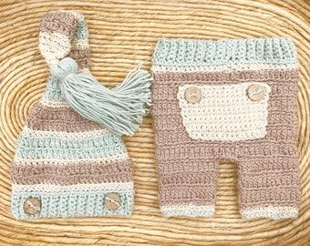 crochet baby boy pant set FREE Domestic Shipping