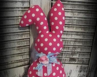 Easter Bunny Doll ~Handmade Rabbit~Shabby Spring Decor