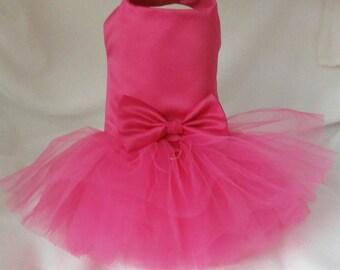 Christmas Dog Dress, Hot Pink  Dog Wedding Dress (or your choice of color), Dog. Hot Pink Wedding Tutu Dress -  Bridesmaid Dog Dress Tutu
