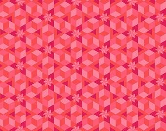 PRESALE - Diving Board - Starfish in Coral - Alison Glass for Andover - A-8638-E - 1/2 yd