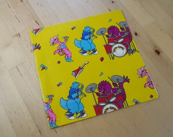Vintage 80s/90s Happy Birthday Kids/Children Dino Rock Wrapping Paper