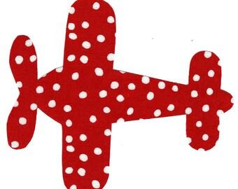 Airplane iron on fabric applique DIY