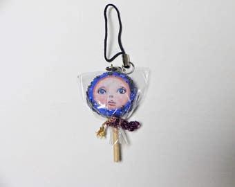 Miniature Handmade Assemblage Mixedmedia Art Candy Doll
