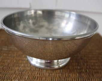pewter footed bowl, Stieff, pewter bowl, Williamsburg pewter bowl, Revere style bowl, entertaining