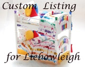 Custom Listing #2: 3 Bunk beds to be Hand-Painted with Custom Bedding