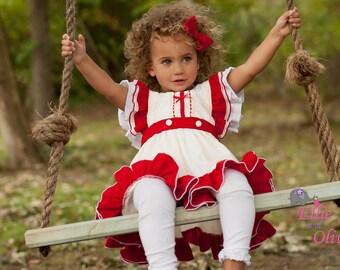 Girls Christmas Dress Take 25% OFF COUPON Red, Ivory 1st Christmas Sweet Molly Christmas Dress & Bloomer Set Toddler Holiday Christmas Dress