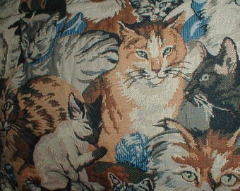 Large Tapestry Cat Shoulderbag/Handbag *Cat Lovers* Handcrafted In New England