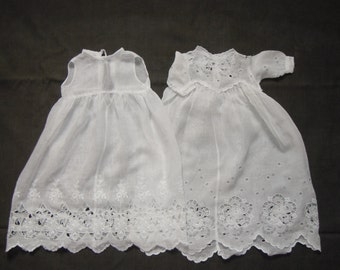 baby's/ dolls Edwardian dress white cotton voile