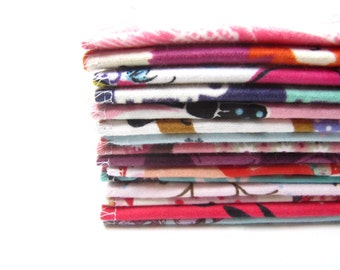 Cloth Wipes, Cloth Diaper Wipes, 15 or 20 Girls Mixed Set, Reusable Cloth Diaper Wipes, Family Cloth