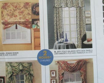 Craft Sewing Paper curtain or drapes pattern by McCalls 3220 uncut paper pattern vintage