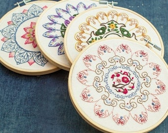 Embroidery Kit - Chinese style embroidery, floral embroidery, home decor, DIY embroidery, embroidery hoop decor, wall art