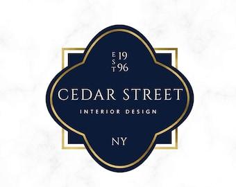 Premade Logo Design Gold Tree Modern Interior
