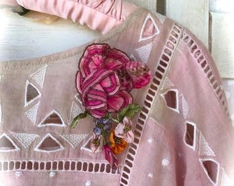 Vintage Tall French Bouquet Pin