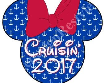 Minnie Mouse Cruisin' 2017 Iron-On Digital File