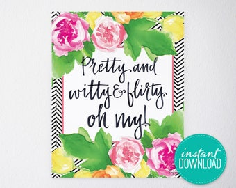 Pretty & Witty Printable