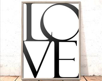 Love Print | Gift for Girlfriend, Boyfriend, Wife, Husband, Partner | Wedding, Anniversary Gift | Gift to Say Sorry