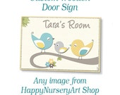 Custom Wooden Door Sign for Baby Nursery - Choose Any Image
