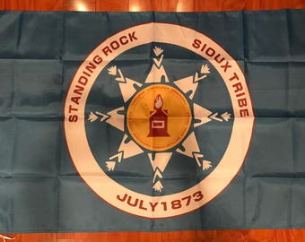 Standing Rock Flag Banner 3 X 5 Feet Protest Occupy Sioux Tribe USA Seller