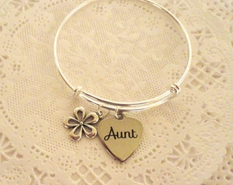 Aunt Bangle Bracelet, You're Going to be an Aunt, Aunt Thank you Bracelet, Aunt Bracelet,Bracelet for your Aunt
