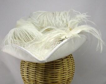 White Moire Bridal Tricorner