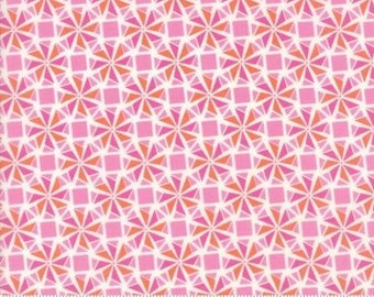 Early Bird by Kate Spain for Moda - Floral - Whirlaway - Pink - Fat Quarter - FQ - Cotton Quilt Fabric