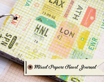Mixed Papers Travel Journal with 40 pages