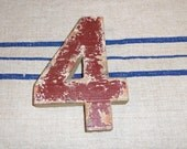 "Typography - NUMBER- ""4"" four"