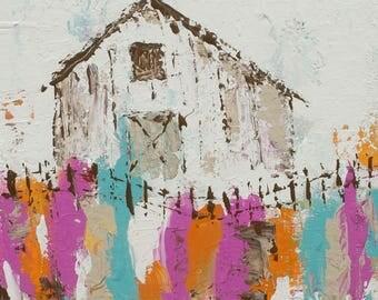 Barn Art Print | Country Barn | Barn |  8x8|12x12|16x16