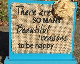 Decorative Sign - So many reasons to be happy
