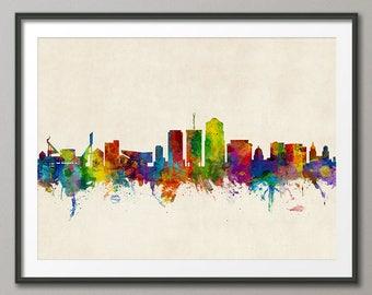 Tucson Skyline, Tucson Arizona Cityscape Art Print (2840)