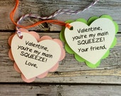 Preschool Valentines. Valentine Favors. You're my Main Squeeze Valentines. Valentine's Day Party Favor Tags . Daycare Valentines. School