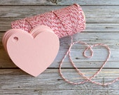 Blank Heart Shaped Tags . Heart Tags . Valentine Tags . Pink and Red Paper Heart Tags. Heart Gift Tags. Labels . Heart Wedding Favor Tags