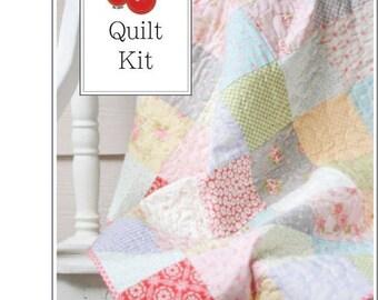 25% Off Sale Fleurs Baby Quilt Kit - One Quilt Kit - FLRSQK
