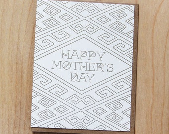 Happy Mother's Day, letterpress greeting card