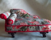 Dollhouse Chaise 1:12th scale